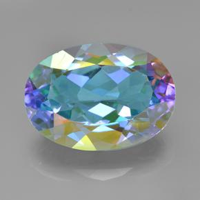 7.8ct Oval Facet Multicolor Mystic Quartz Gem (ID: 504800)