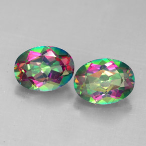 3.29 ct total Natural Top Rainbow Mystic Topaz