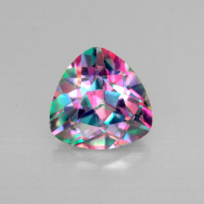 mystic topaz 2 carat trillion from brazil gemstone. Black Bedroom Furniture Sets. Home Design Ideas