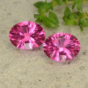 Purplish Pink Mystic Topaz Gem - 2.1ct Oval Concave Cut (ID: 482883)