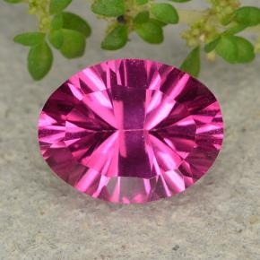 Purplish Pink Mystic Topaz Gem - 2.1ct Oval Concave Cut (ID: 482914)