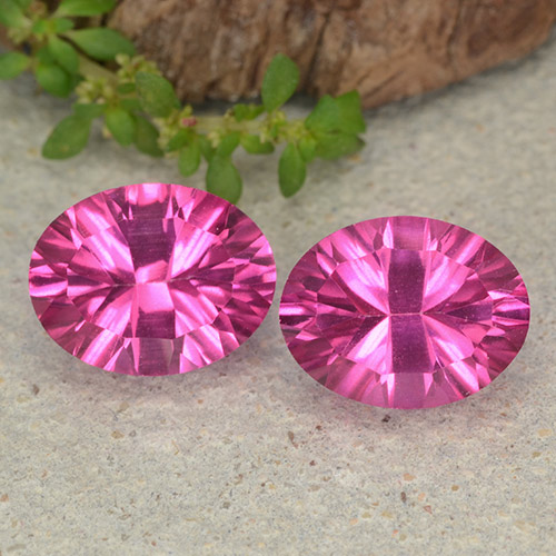 Purplish Pink Mystic Topaz Gem - 2.3ct Oval Concave Cut (ID: 482956)