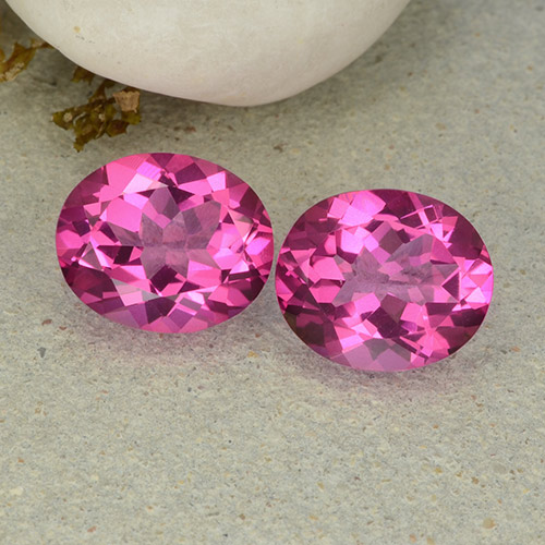Purplish Pink Mystic Topaz Gem - 5.6ct Oval Facet (ID: 482967)