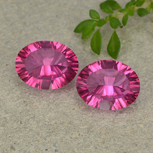 Purplish Pink Mystic Topaz Gem - 2.1ct Oval Concave Cut (ID: 482978)