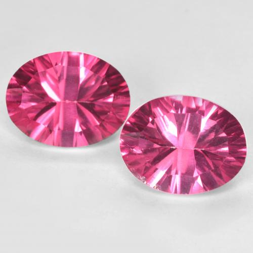 thumb image of 2.1ct Oval Concave Cut Purplish Pink Mystic Topaz (ID: 482980)