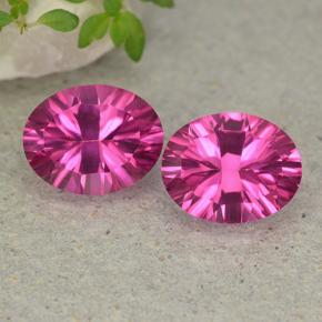 Purplish Pink Mystic Topaz Gem - 2.2ct Oval Concave Cut (ID: 482986)