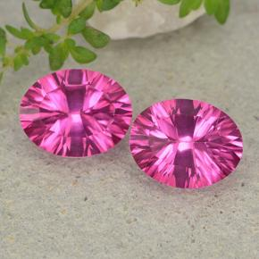 Purplish Pink Mystic Topaz Gem - 2.1ct Oval Concave Cut (ID: 482988)
