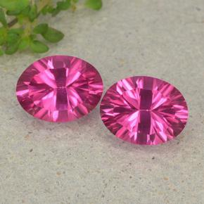 Purplish Pink Mystic Topaz Gem - 2.3ct Oval Concave Cut (ID: 482993)
