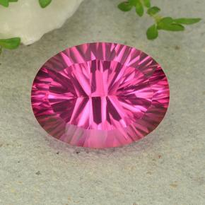 Purplish Pink Mystic Topaz Gem - 11.1ct Oval Concave Cut (ID: 483034)