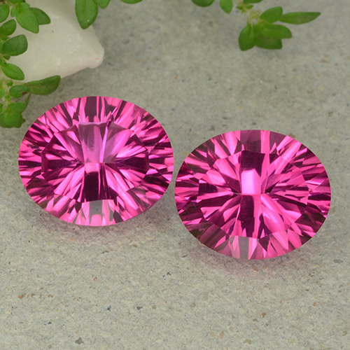 Hot Pink Mystic Topaz Gem - 5.3ct Oval Concave Cut (ID: 483080)