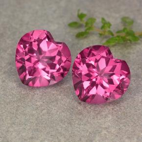Hot Pink Mystic Topaz Gem - 5.6ct Heart Facet (ID: 484630)