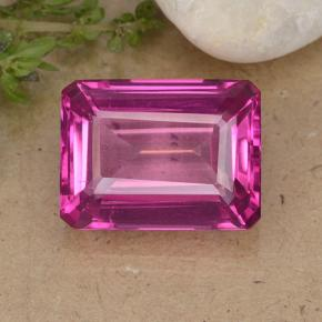14.7ct Octagon Step Cut Purplish Pink Mystic Topaz Gem (ID: 484916)