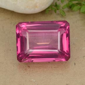 15.5ct Octagon Step Cut Purplish Pink Mystic Topaz Gem (ID: 484919)