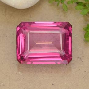 16.1ct Octagon Step Cut Purplish Pink Mystic Topaz Gem (ID: 484923)