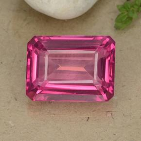 15.4ct Octagon Step Cut Purplish Pink Mystic Topaz Gem (ID: 484926)