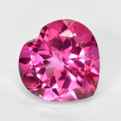 5.7ct Heart Facet Purplish Pink Mystic Topaz Gem (ID: 484971)