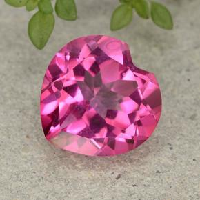 5.7ct Heart Facet Purplish Pink Mystic Topaz Gem (ID: 484972)