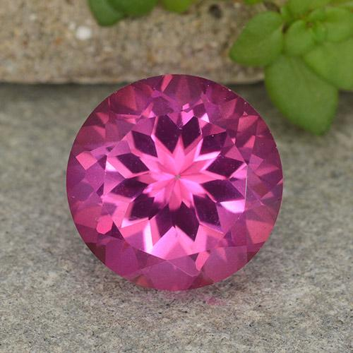 4.7ct Round Facet Purplish Pink Mystic Topaz Gem (ID: 487429)