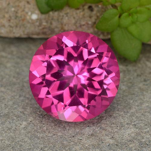4.1ct Round Facet Purplish Pink Mystic Topaz Gem (ID: 487431)