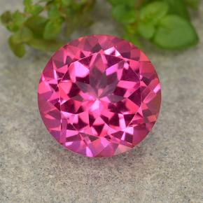Medium-Dark Pink Topacio Místico Gema - 4.5ct Faceta Redonda (ID: 487524)