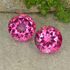 Hot Pink Mystic Topaz Gem - 4.4ct Round Facet (ID: 487669)