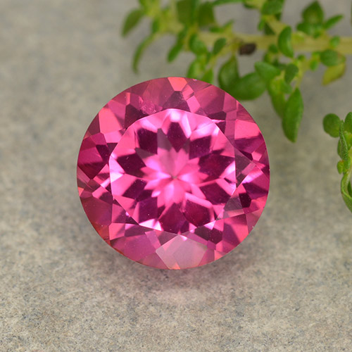 4.3ct Round Facet Purplish Pink Mystic Topaz Gem (ID: 487897)