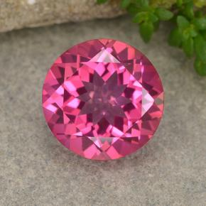 Medium-Dark Pink Topacio Místico Gema - 3.9ct Faceta Redonda (ID: 487977)