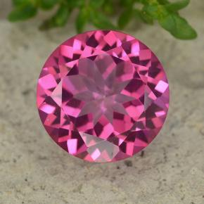 4.3ct Round Facet Purplish Pink Mystic Topaz Gem (ID: 488053)