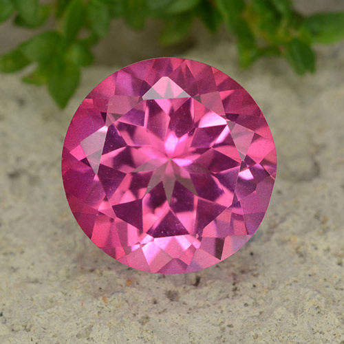 4.2ct Round Facet Purplish Pink Mystic Topaz Gem (ID: 488062)