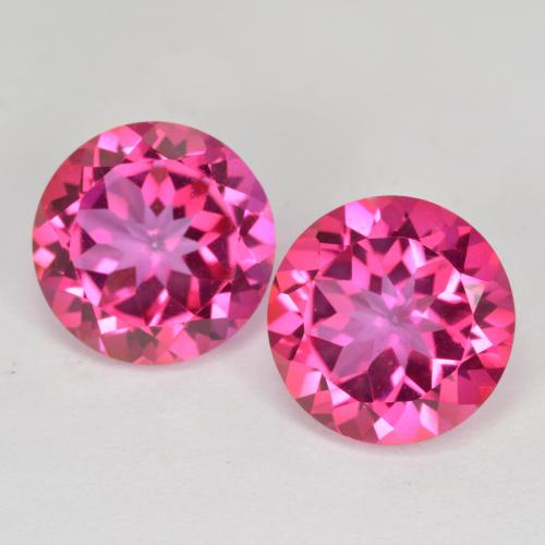 Purplish Pink Mystic Topaz Gem - 4.2ct Round Facet (ID: 488244)