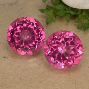 Hot Pink Mystic Topaz Gem - 4.4ct Round Facet (ID: 488247)