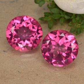 Purplish Pink Mystic Topaz Gem - 3.7ct Round Facet (ID: 488248)