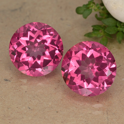4.4ct Round Facet Purplish Pink Mystic Topaz Gem (ID: 488250)