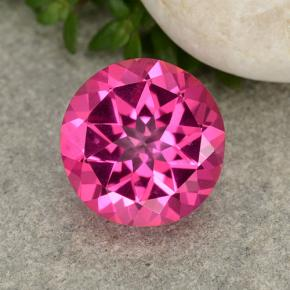3.9ct Round Facet Purplish Pink Mystic Topaz Gem (ID: 488385)