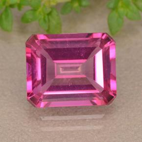Purplish Pink Mystic Topaz Gem - 4ct Octagon Step Cut (ID: 489182)