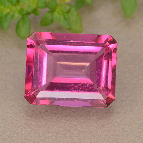 Hot Pink Mystic Topaz Gem - 3.6ct Octagon Step Cut (ID: 489184)