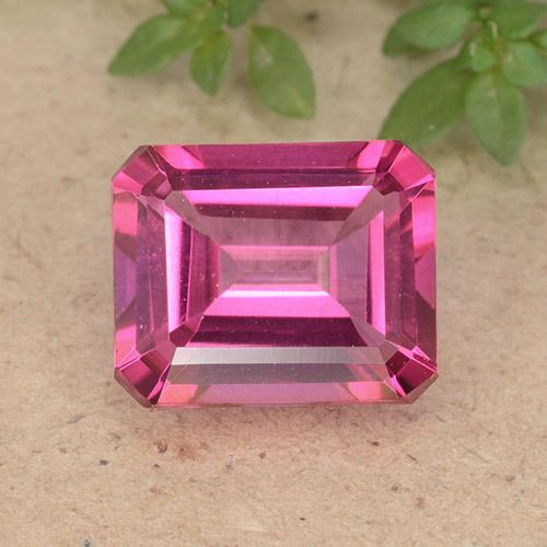 Purplish Pink Mystic Topaz Gem - 3.9ct Octagon Step Cut (ID: 489274)