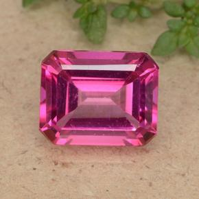 Purplish Pink Mystic Topaz Gem - 3.8ct Octagon Step Cut (ID: 489279)