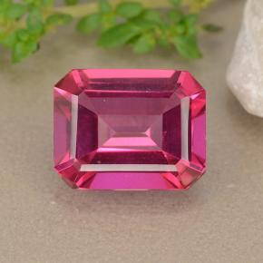 Purplish Pink Mystic Topaz Gem - 3.3ct Octagon Step Cut (ID: 489455)