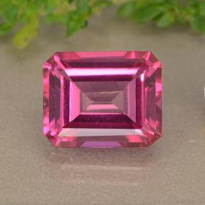 Purplish Pink Mystic Topaz Gem - 3.9ct Octagon Step Cut (ID: 489458)