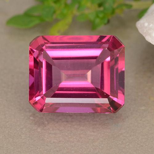 Hot Pink Mystic Topaz Gem - 3.9ct Octagon Step Cut (ID: 489471)
