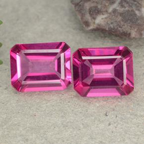 Purplish Pink Mystic Topaz Gem - 3.4ct Octagon Step Cut (ID: 489479)
