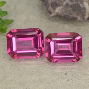 Purplish Pink Mystic Topaz Gem - 3.7ct Octagon Step Cut (ID: 489483)