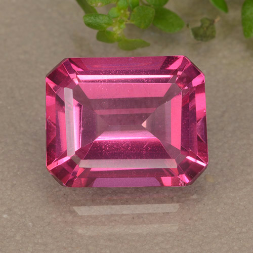 Purplish Pink Mystic Topaz Gem - 3.8ct Octagon Step Cut (ID: 489520)