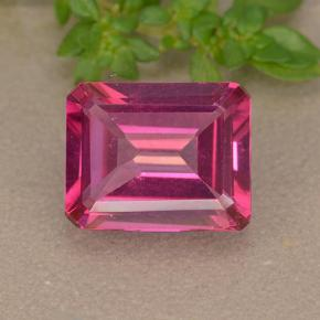 Purplish Pink Mystic Topaz Gem - 3.3ct Octagon Step Cut (ID: 489555)