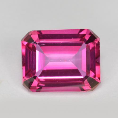 Purplish Pink Mystic Topaz Gem - 3.7ct Octagon Step Cut (ID: 489625)
