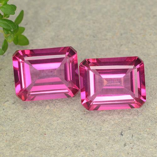 Purplish Pink Mystic Topaz Gem - 3.8ct Octagon Step Cut (ID: 489630)