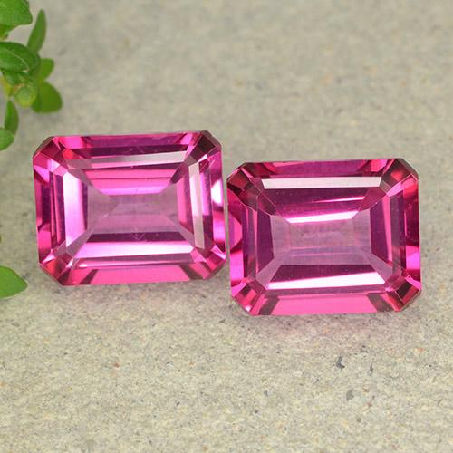 Purplish Pink Mystic Topaz Gem - 3.7ct Octagon Step Cut (ID: 489631)