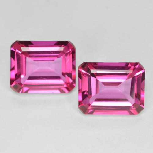 Purplish Pink Mystic Topaz Gem - 4ct Octagon Step Cut (ID: 489640)