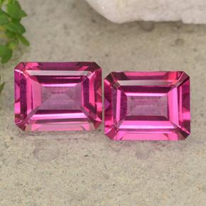 Purplish Pink Mystic Topaz Gem - 3.5ct Octagon Step Cut (ID: 489648)